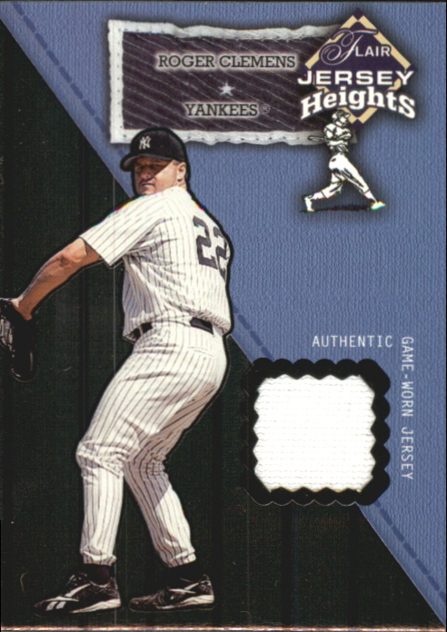 2002 Flair Jersey Heights #6 Roger Clemens SP