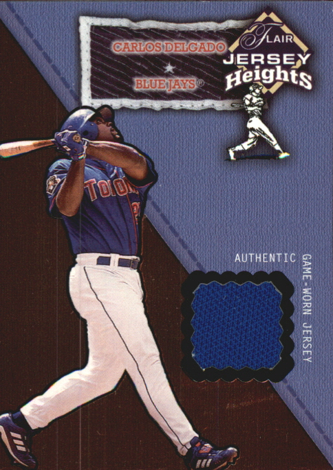 2002 Flair Jersey Heights #7 Carlos Delgado