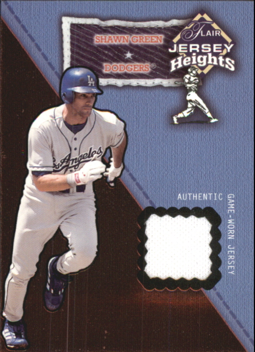 2002 Flair Jersey Heights #11 Shawn Green