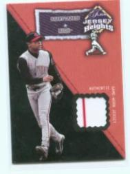 2002 Flair Jersey Heights #16 Barry Larkin