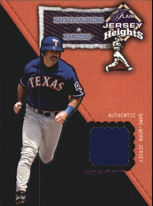 2002 Flair Jersey Heights #19 Rafael Palmeiro