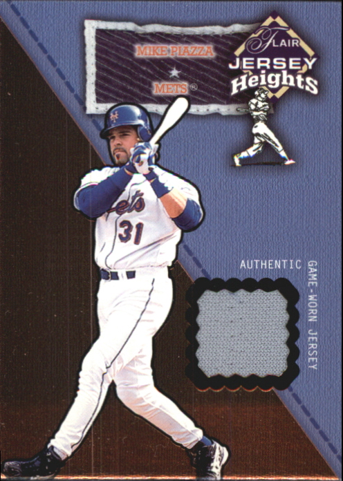2002 Flair Jersey Heights #20 Mike Piazza