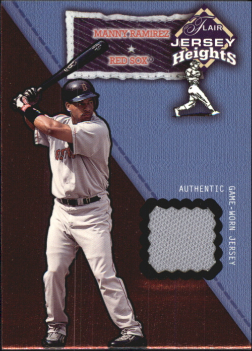 2002 Flair Jersey Heights #21 Manny Ramirez