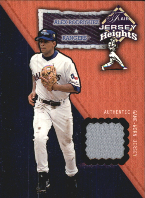 2002 Flair Jersey Heights #22 Alex Rodriguez SP