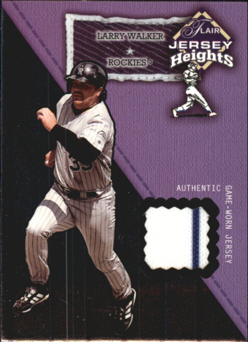 2002 Flair Jersey Heights #25 Larry Walker *