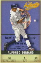 2002 Fleer Authentix #5 Alfonso Soriano
