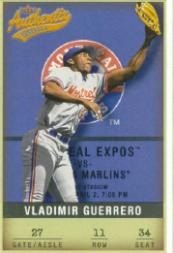 2002 Fleer Authentix #11 Vladimir Guerrero