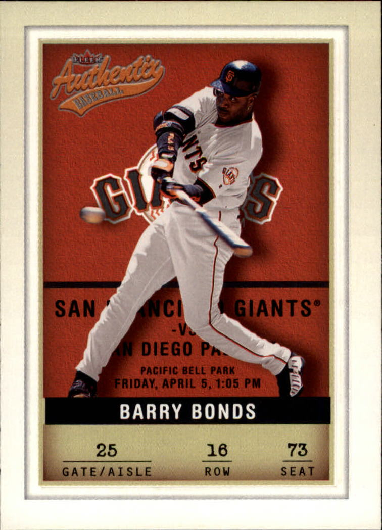 2002 Fleer Authentix #16 Barry Bonds