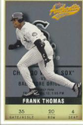 2002 Fleer Authentix #20 Frank Thomas front image
