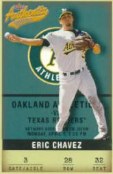 2002 Fleer Authentix #28 Eric Chavez