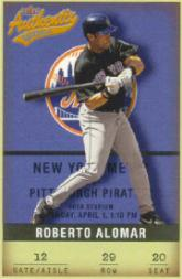2002 Fleer Authentix #29 Roberto Alomar