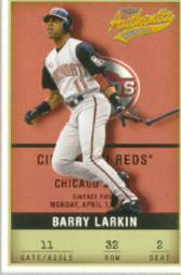 2002 Fleer Authentix #32 Barry Larkin