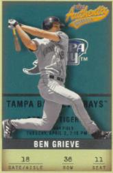 2002 Fleer Authentix #36 Ben Grieve