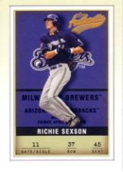 2002 Fleer Authentix #37 Richie Sexson