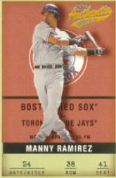 2002 Fleer Authentix #38 Manny Ramirez