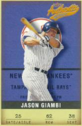 2002 Fleer Authentix #62 Jason Giambi
