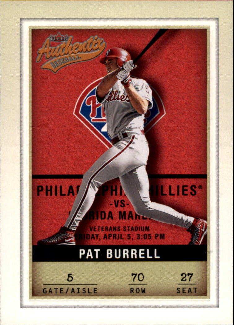 2002 Fleer Authentix #70 Pat Burrell