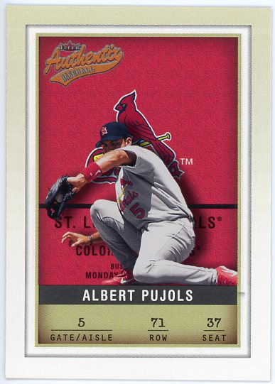 2002 Fleer Authentix #71 Albert Pujols