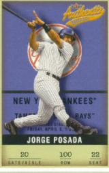 2002 Fleer Authentix #100 Jorge Posada