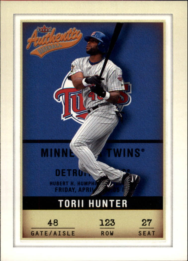 2002 Fleer Authentix #123 Torii Hunter