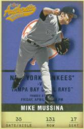 2002 Fleer Authentix #131 Mike Mussina