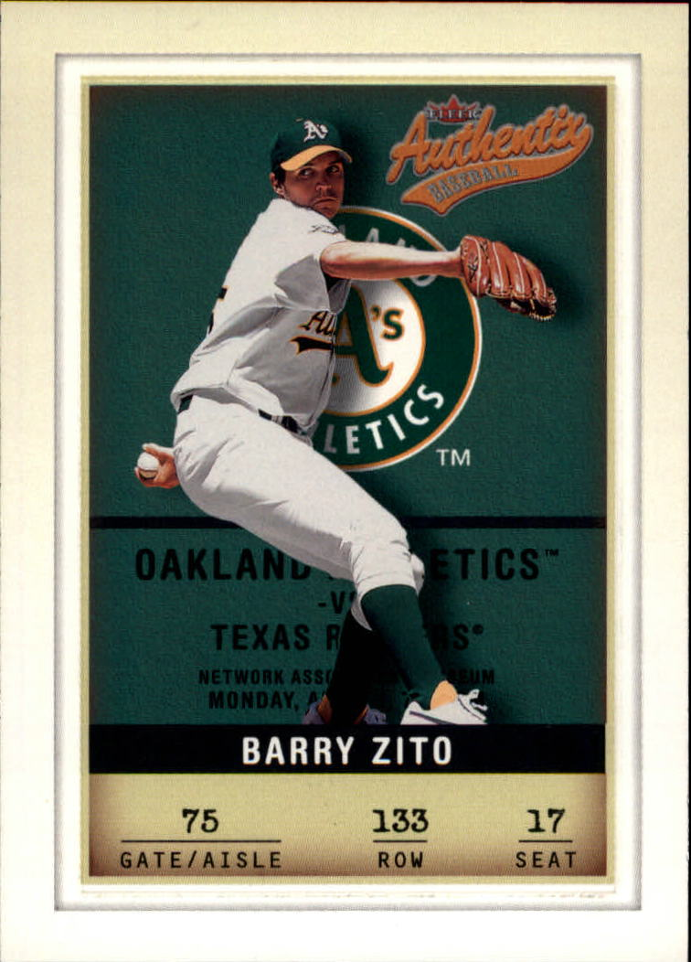 2002 Fleer Authentix #133 Barry Zito