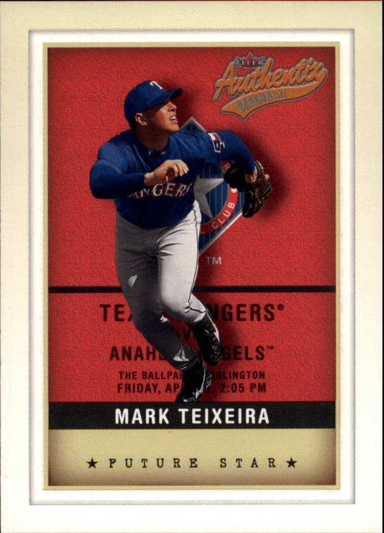 2002 Fleer Authentix #137 Mark Teixeira FS