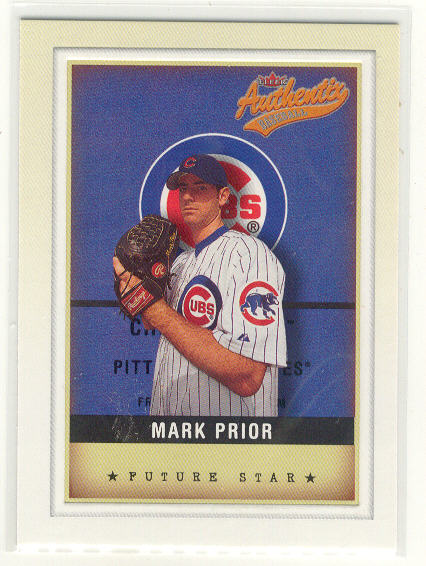 2002 Fleer Authentix #146 Mark Prior FS