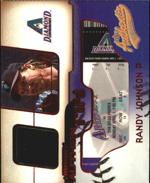 2002 Fleer Authentix Jersey AuthenTIX #JARJ Randy Johnson