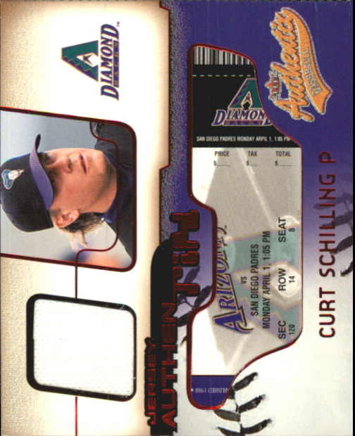 2002 Fleer Authentix Jersey AuthenTIX #JACS Curt Schilling SP