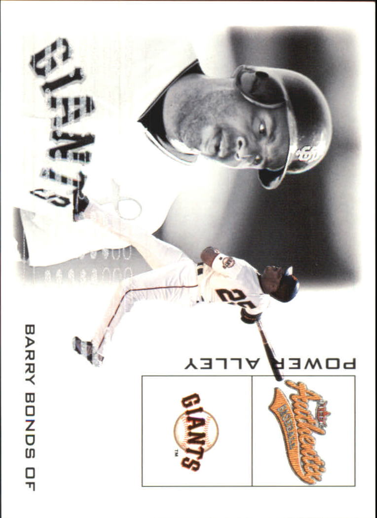2002 Fleer Authentix Power Alley #6 Barry Bonds front image