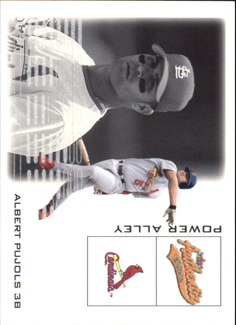 2002 Fleer Authentix Power Alley #15 Albert Pujols