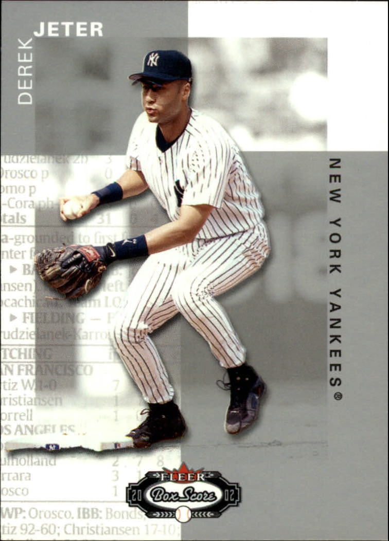 2002 Fleer Box Score #1 Derek Jeter