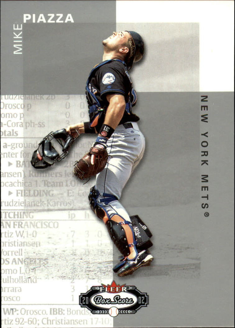 2002 Fleer Box Score #5 Mike Piazza