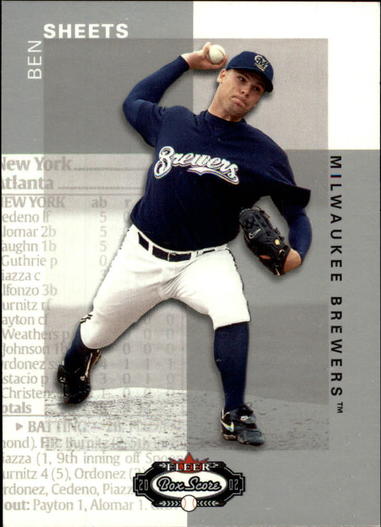2002 Fleer Box Score #10 Ben Sheets