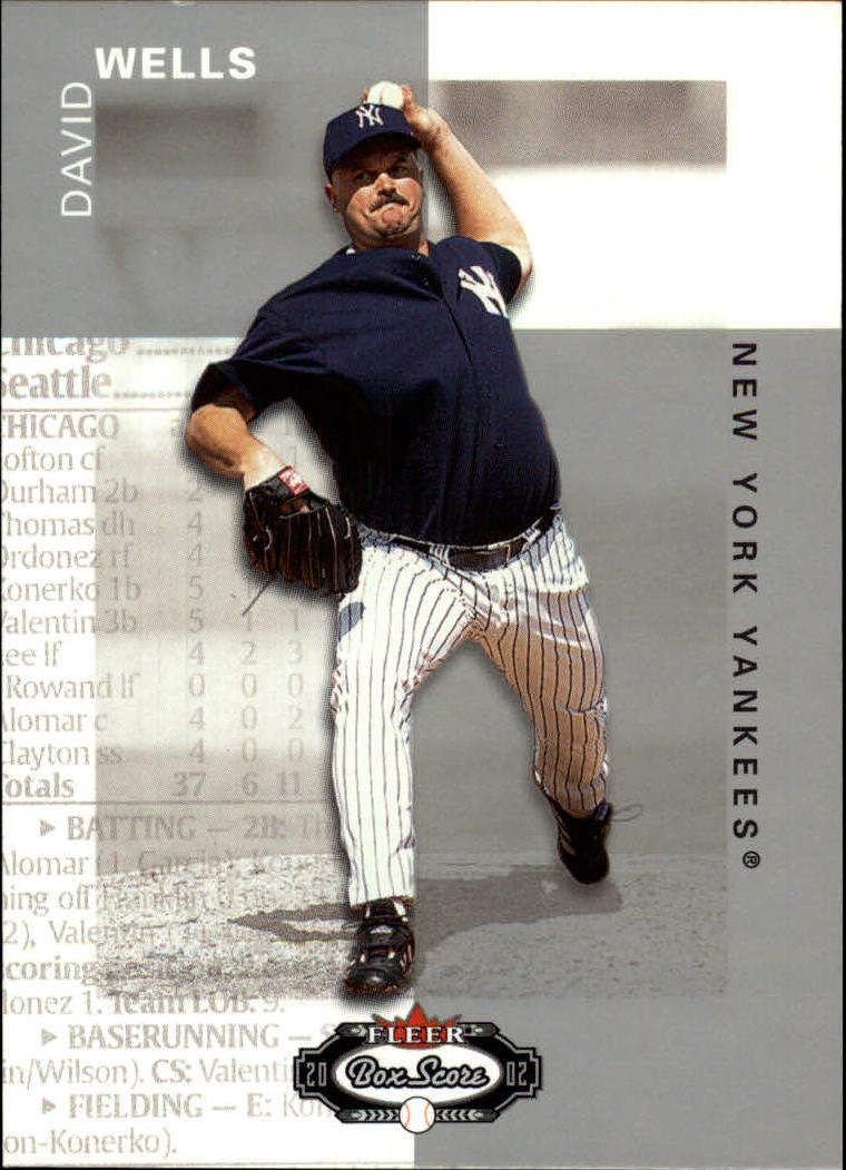2002 Fleer Box Score #12 David Wells