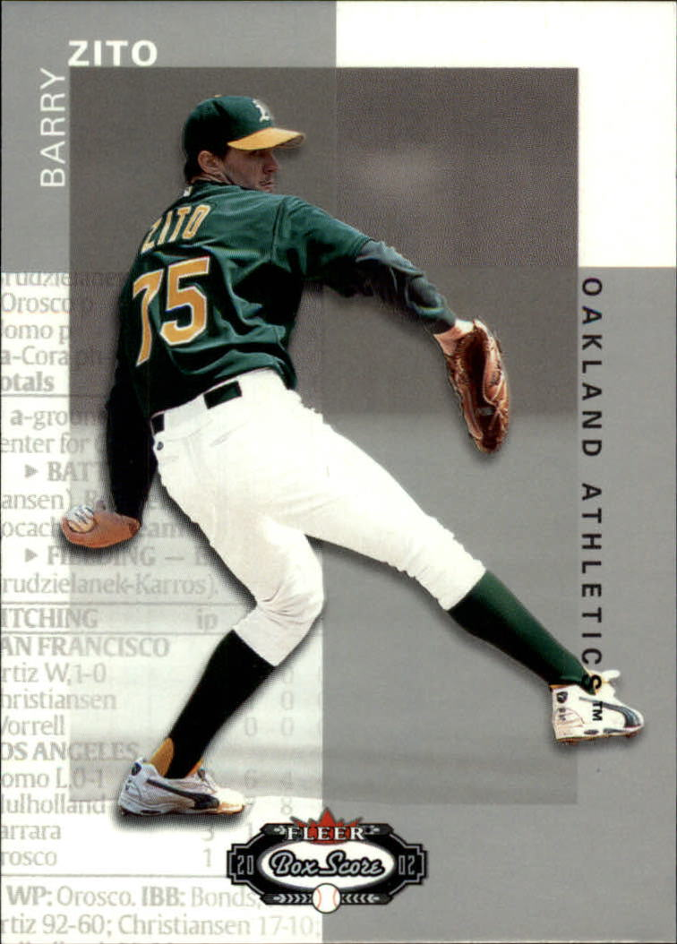 2002 Fleer Box Score #13 Barry Zito