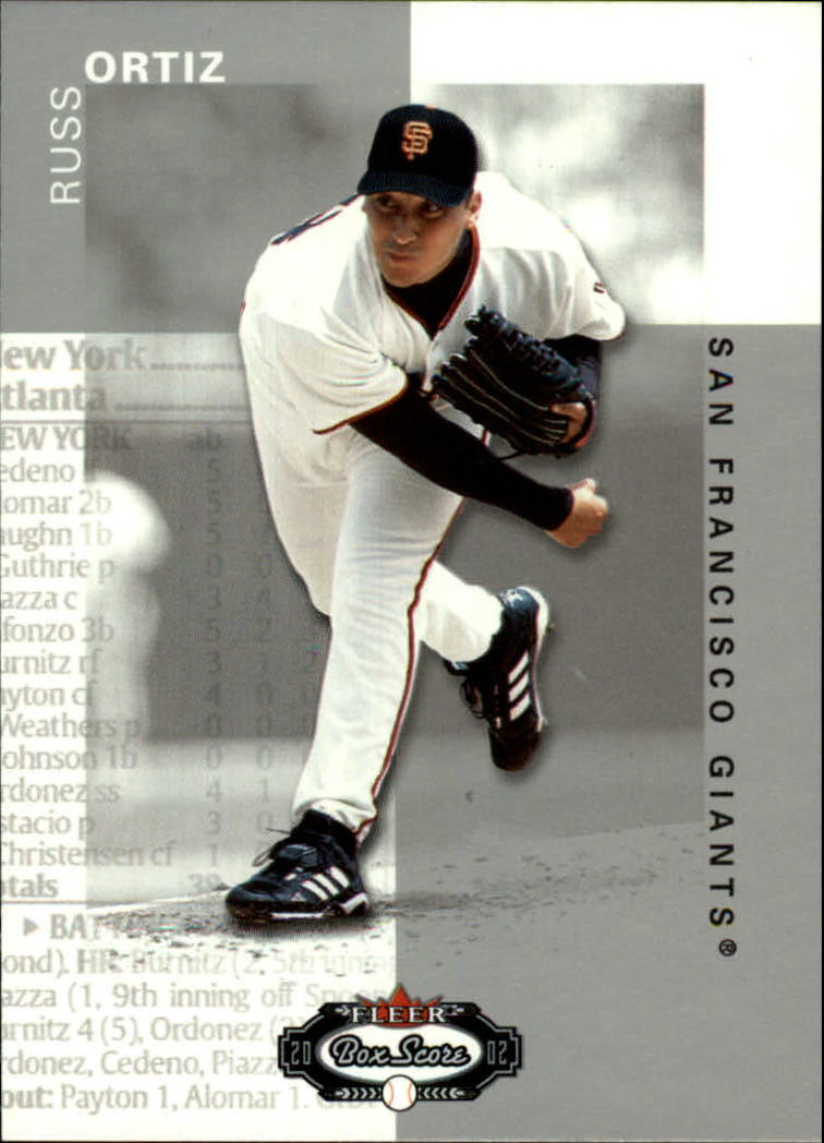 2002 Fleer Box Score #20 Russ Ortiz