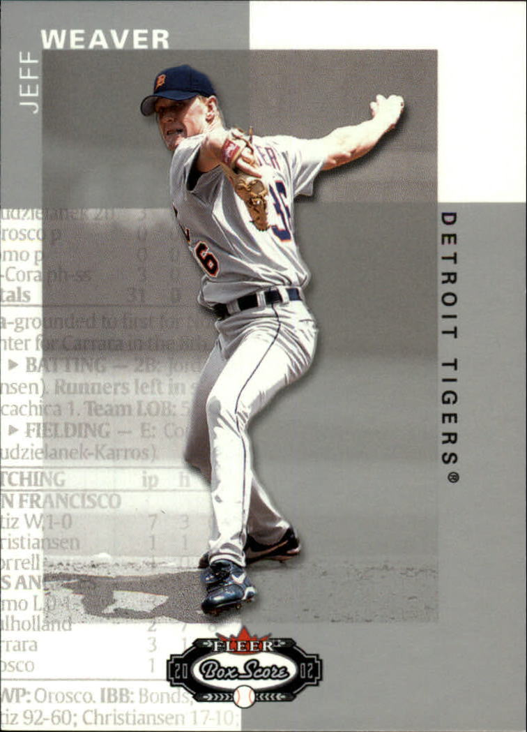2002 Fleer Box Score #23 Jeff Weaver