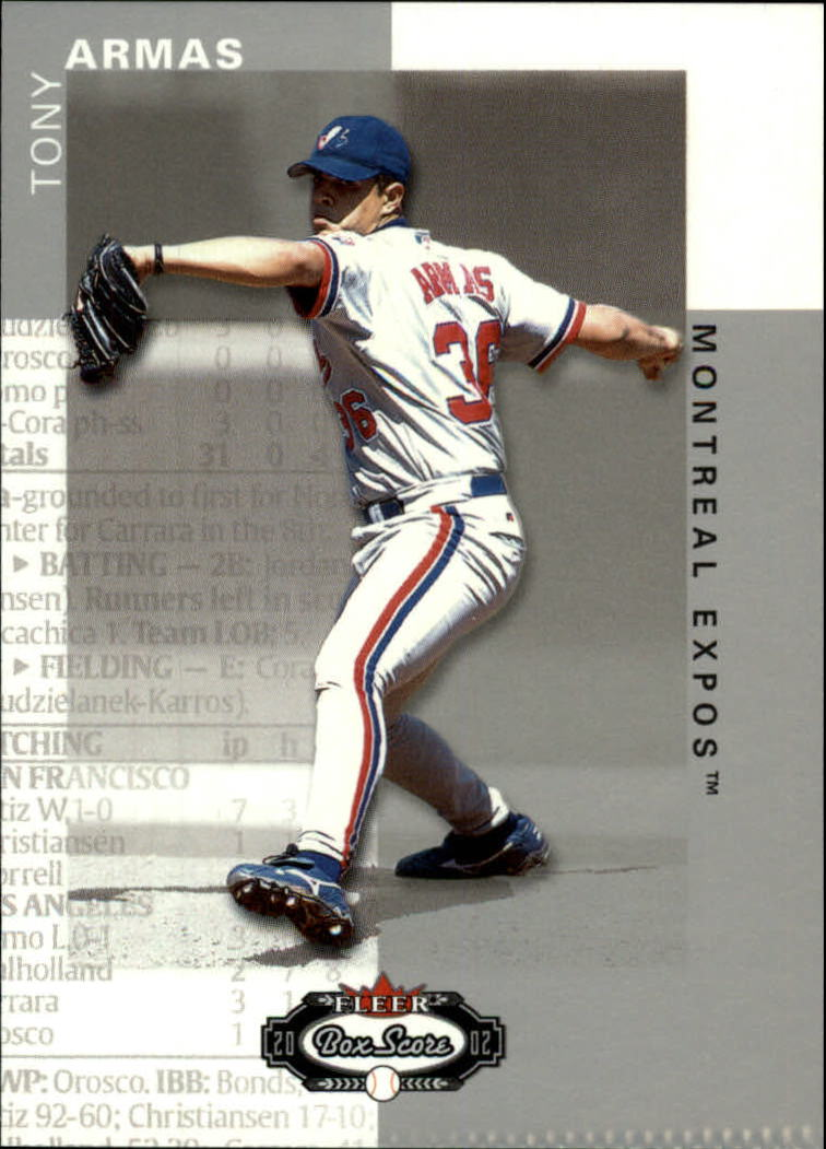 2002 Fleer Box Score #24 Tony Armas Jr.