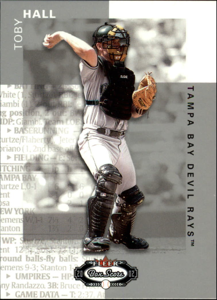 2002 Fleer Box Score #25 Toby Hall