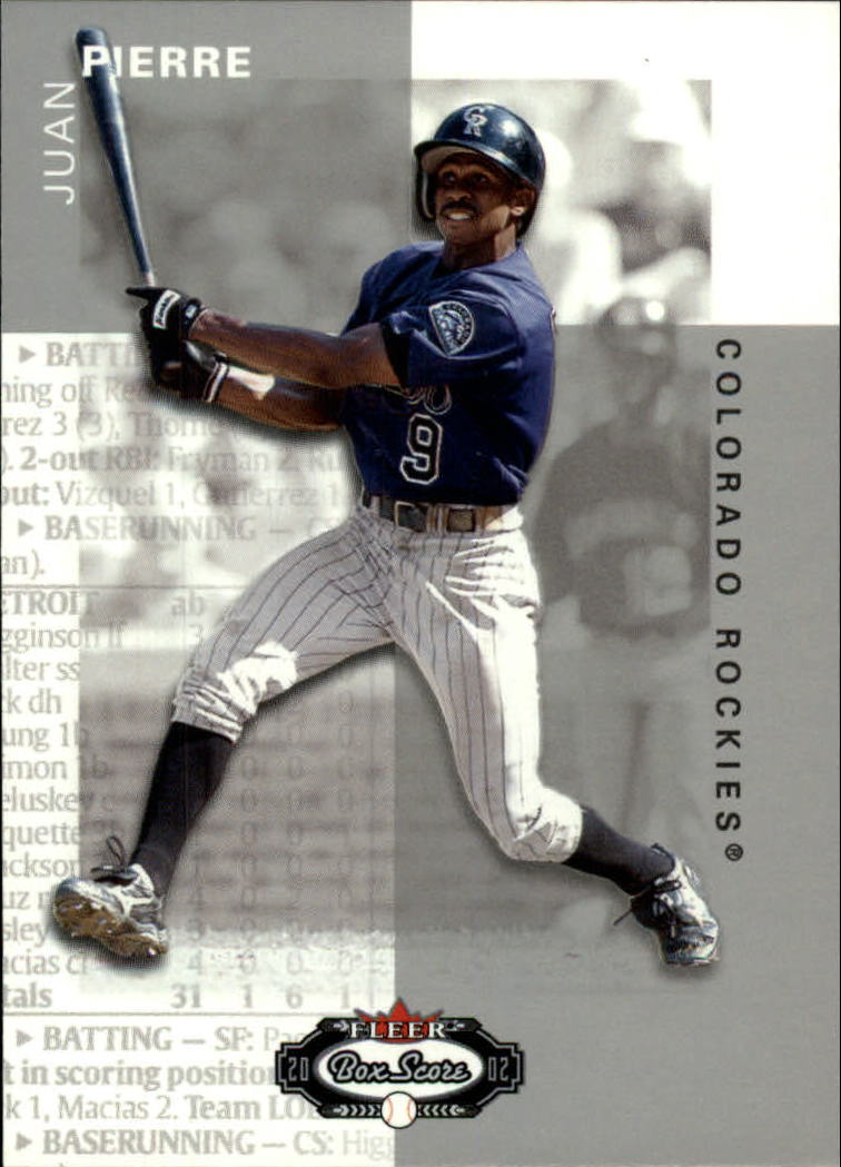 2002 Fleer Box Score #27 Juan Pierre