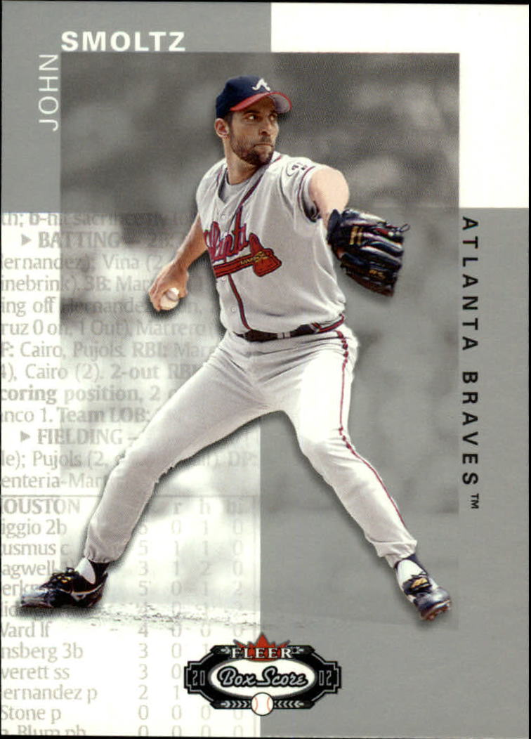 2002 Fleer Box Score #30 John Smoltz