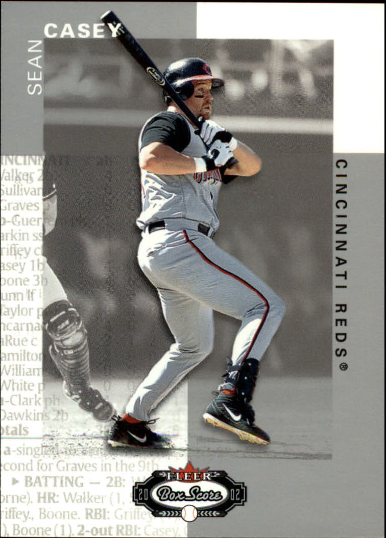 2002 Fleer Box Score #31 Sean Casey