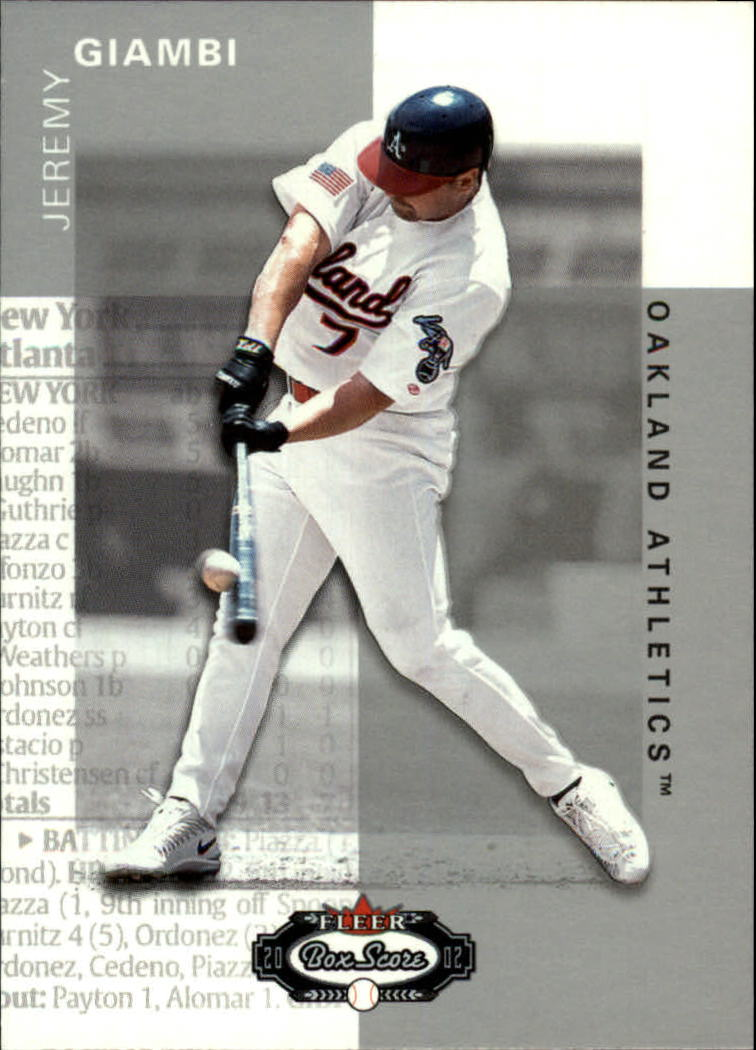 2002 Fleer Box Score #32 Jeremy Giambi