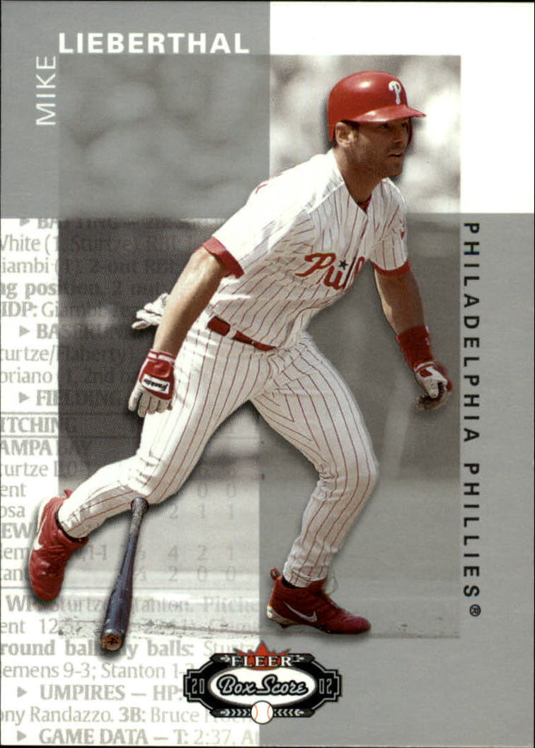2002 Fleer Box Score #33 Mike Lieberthal