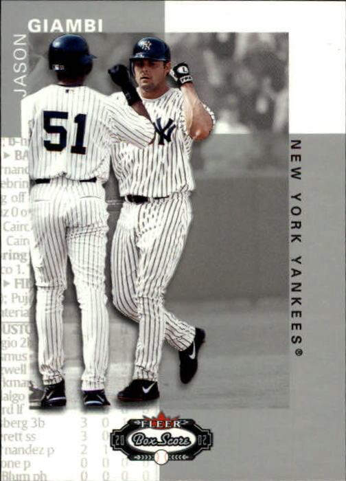 2002 Fleer Box Score #38 Jason Giambi