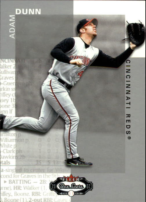 2002 Fleer Box Score #45 Adam Dunn