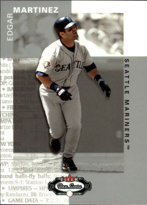 2002 Fleer Box Score #48 Edgar Martinez