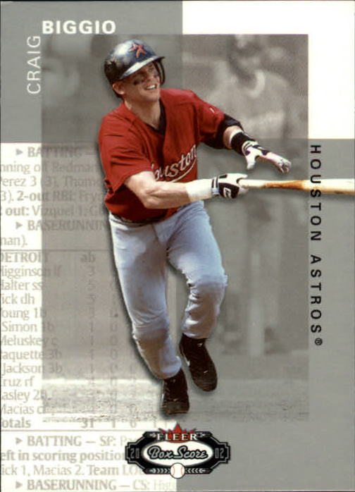 2002 Fleer Box Score #55 Craig Biggio